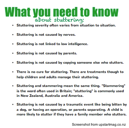 Facts about Stuttering