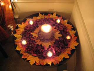 Rangoli using fall colors in the USA