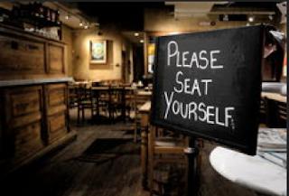 Restaurant etiquette in the USA.