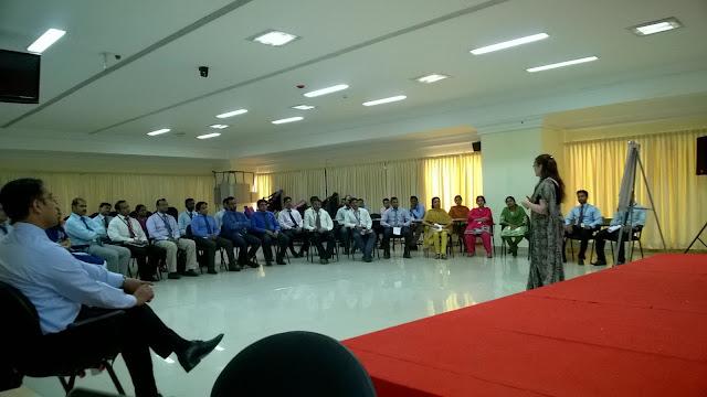Jennifer Kumar addressing the crowd