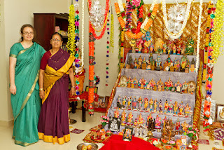 Author, Jennifer Kumar, celebrating in Palakkad, India.