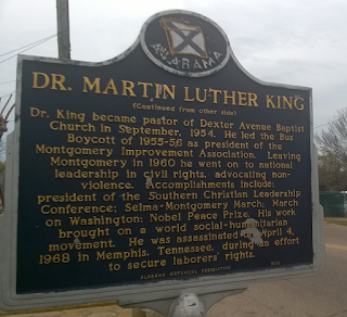 Historical Marker About Dr. Martin Luther King Jr.