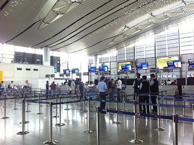 An airport in India.