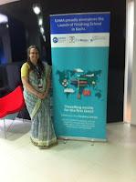 American wearing sari to work in India