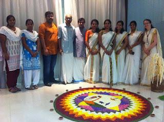 Celebrating Onam in NRI TBI, Infopark, Kerala.
