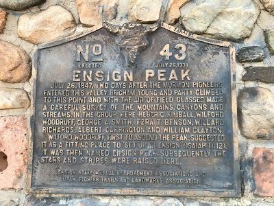 Utah Historical Marker at Ensign Peak