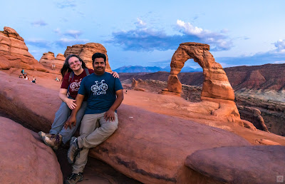 Blog author, Jennifer, and her husband at the Delicate Arch in Moab, Utah.